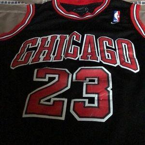 Men's Size 52 Michael Jordan Black bulls jersey